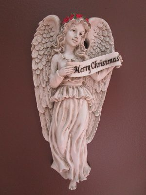 "02-002 ""Merry Christmas"" Angelic Plaque"