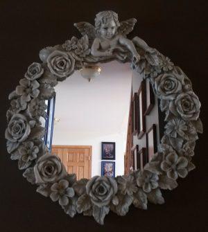 02-006 Cherub & Roses mirror