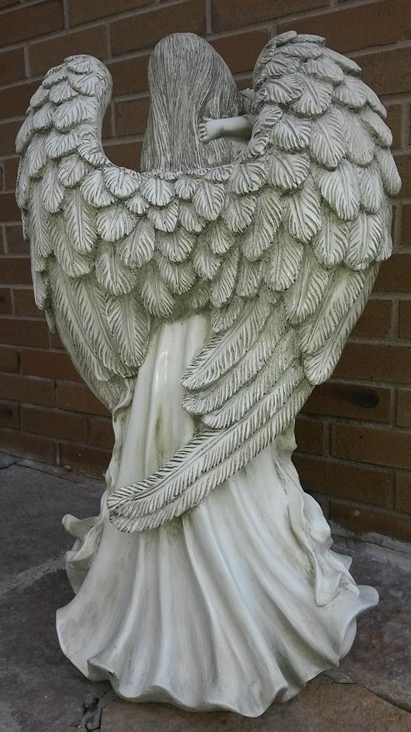 Large Angel Cherub Garden Statue On Sale At Wing And A Prayer