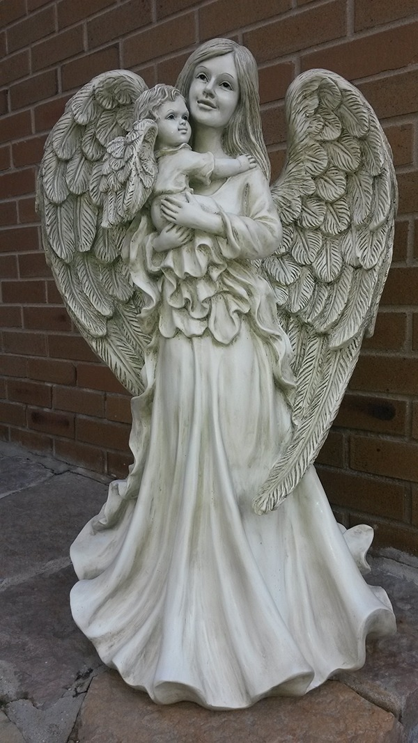 Large Angel Cherub Garden Statue ...
