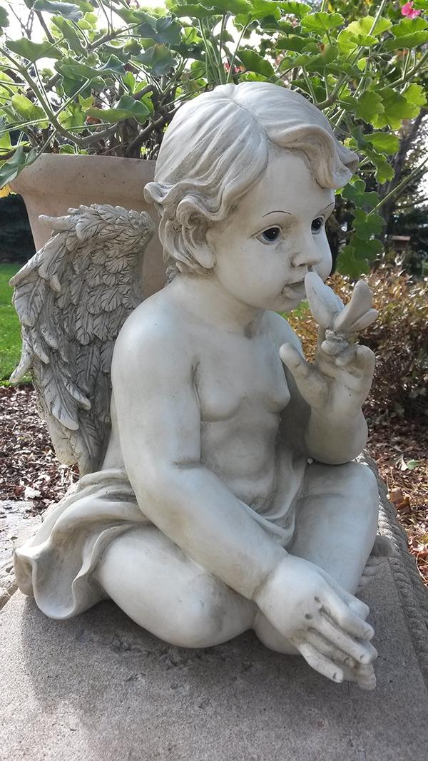 Cherub Butterfly Garden Statue ...