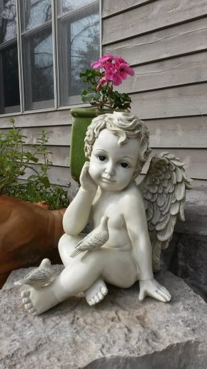 Cherub Garden Statue with Doves