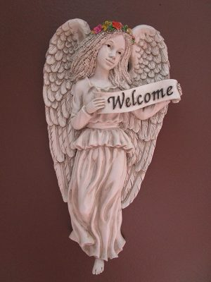 12-001 Angelic Welcome Plaque