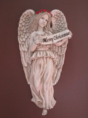 "12-002 ""Merry Christmas"" Angelic Plaque"