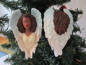 12-036 African Heavenly Angel Christmas Tree Ornament