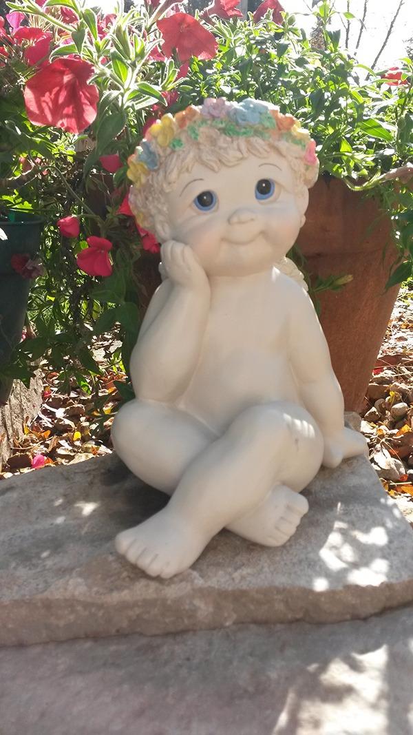 Small Cherub Garden Statue ...
