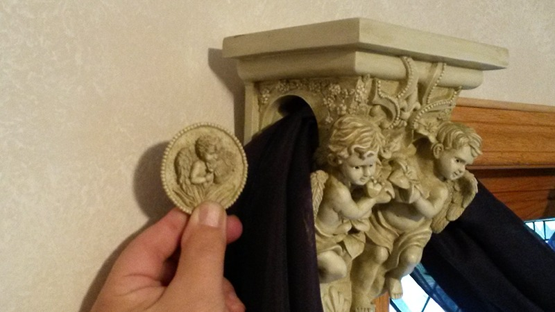 Angel Cherub Wall Sconce Drapery Holder Home Decor