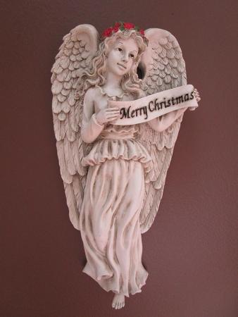 """02-002 """"Merry Christmas"""" Angelic Plaque"""