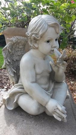 Cherub Butterfly Garden Statue