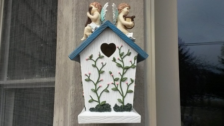 Angel Cherub Birdhouse