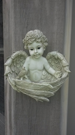 Angel Cherub Planter Bird Feeder