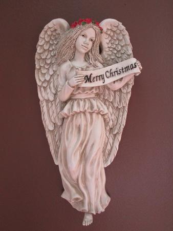 """12-002 """"Merry Christmas"""" Angelic Plaque"""